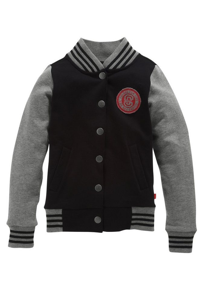 CFL Sweatjacke in Collegeform in schwarz