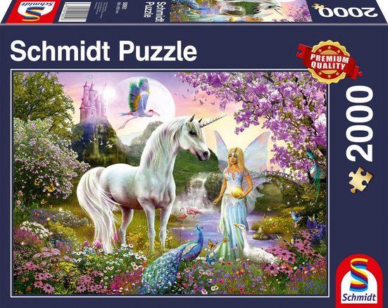 Schmidt Spiele Puzzle »Fee und Einhorn«, 2000 Puzzleteile