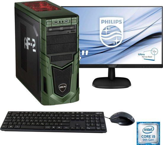 Hyrican »Military Gaming 6579« Gaming-PC-Komplettsystem (24 Zoll, Intel Core i5, RTX 2060, 16 GB RAM, 1000 GB HDD, 480 GB SSD)