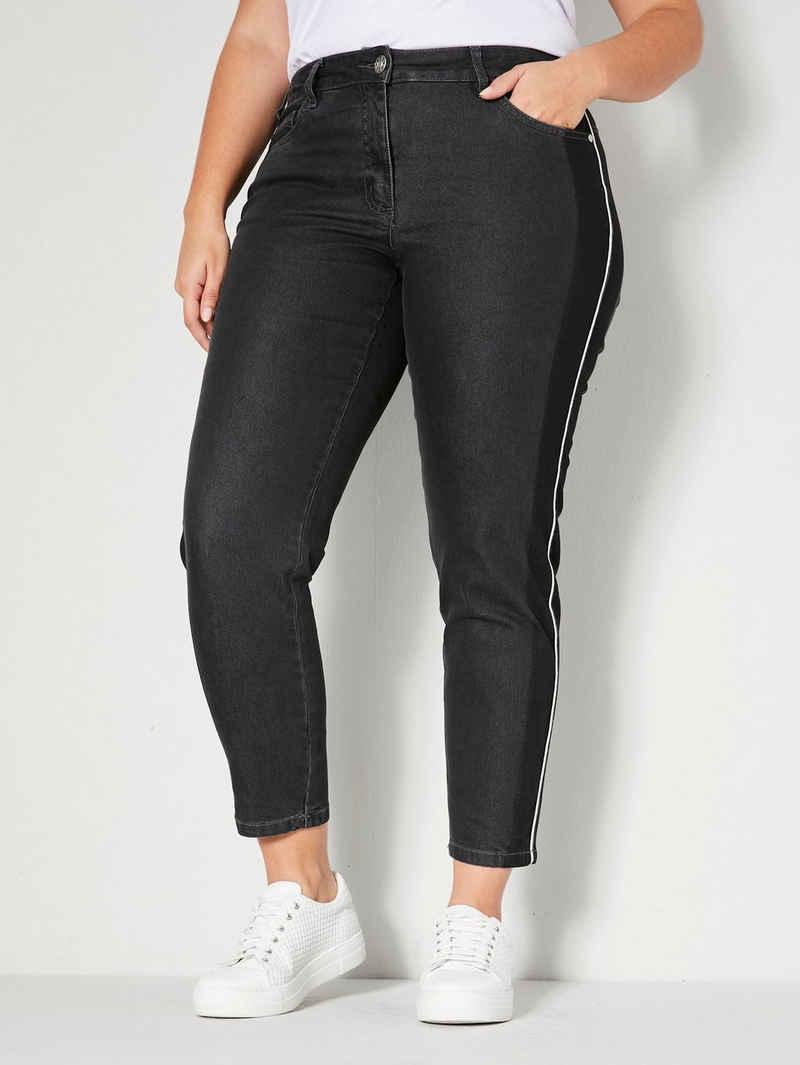 Sara Lindholm 5-Pocket-Jeans mit seitlichem Streifen