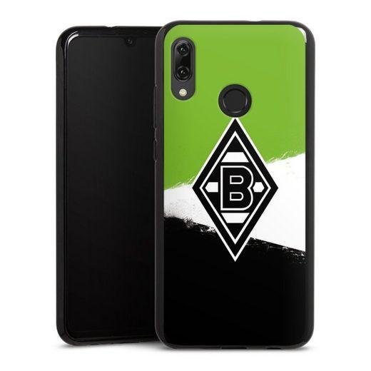 DeinDesign Handyhülle »Borussia Grunge Grün-Weiss-Schwarz« Huawei P Smart (2019), Hülle Gladbach Borussia Mönchengladbach