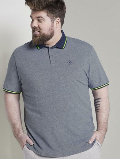 TOM TAILOR Men Plus Poloshirt »Sommerliches Poloshirt mit kleiner Stickerei«