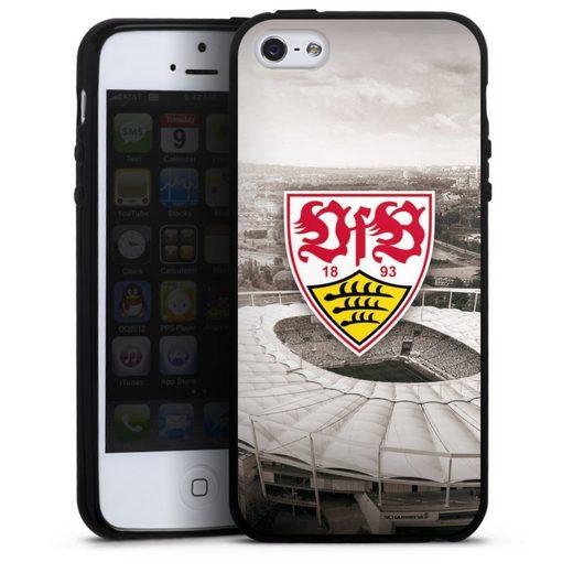 DeinDesign Handyhülle »VfB Stadion grau« Apple iPhone SE, Hülle VfB Stuttgart Offizielles Lizenzprodukt Stadion