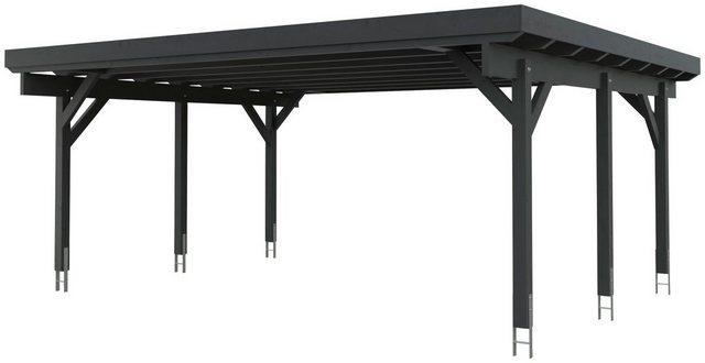 Kiehn-Holz Doppelcarport »KH 310 / KH 311«, BxT: 634x504 cm, Stahl-Dach, verschiedene Farben   Baumarkt > Garagen und Carports   Kiehn-Holz