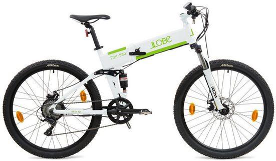 "LLobe E-Bike »FML-830 white 27,5"", 10,4 Ah«, 9 Gang Shimano, Kettenschaltung, Heckmotor 250 W"