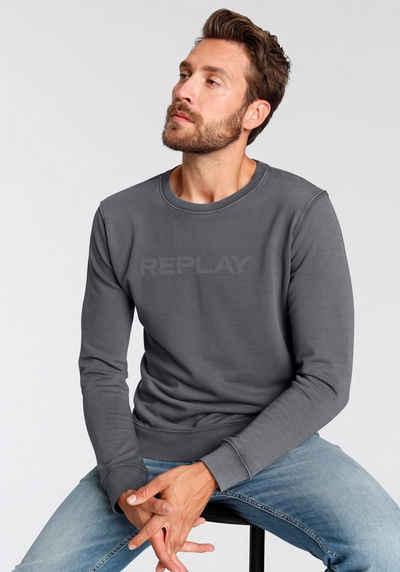 Replay Sweatshirt mit Markenprint vorne