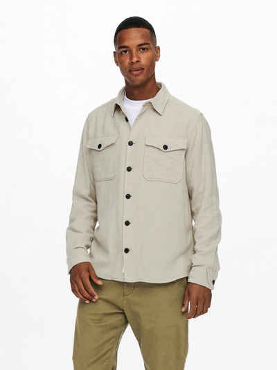 ONLY & SONS Flanellhemd »MILO LIFE SOLID OVERSHIRT«