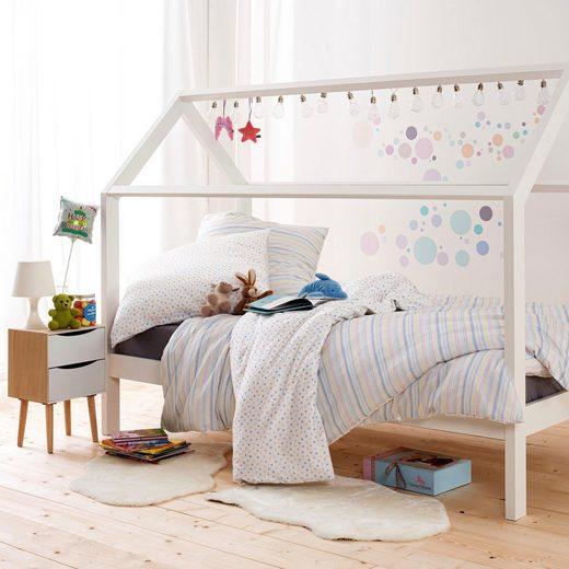 Kinderbettwäsche »PÜNKTCHEN«, Estella, mit zarten Streifen