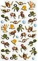 maildor Sticker »Meeresschildkröten«, 30 Stück, Bild 1