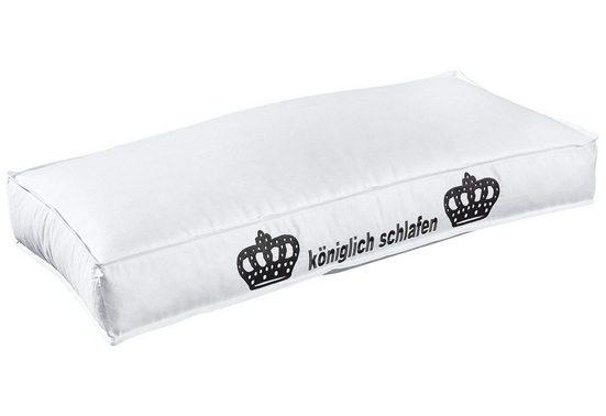 Kunstfaserkopfkissen, »Kunstfaserkopfkissen«, Hanse by RIBECO, Füllung: 100% Polyester, Bezug: 100% Baumwolle, (1-tlg), 10 cm Außensteg