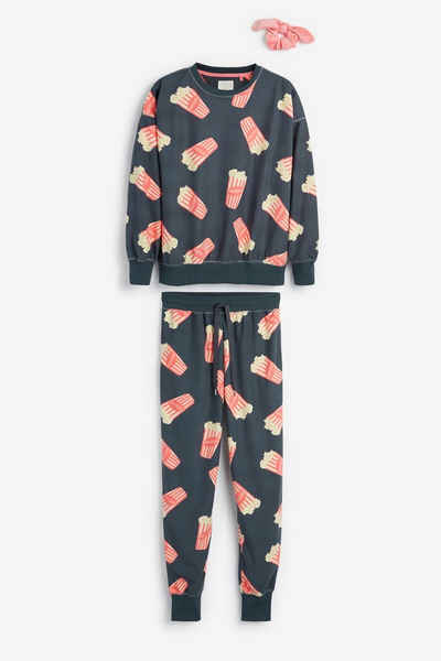 Next Pyjama »Kuscheliger Pyjama mit Schleife« (3 tlg) Christmas Novelty