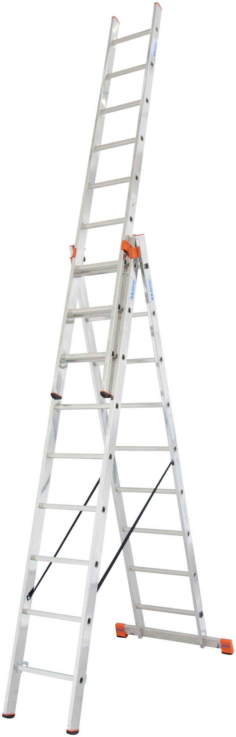 KRAUSE Doppelleiter »Tribilo«, mit Leiternspitzen, 3x9 Sprossen