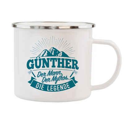 HTI-Living Becher »Echter Kerl Emaille Becher Günther«, Emaille