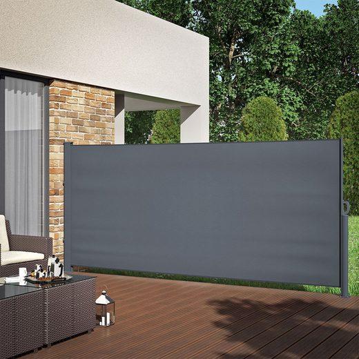 Oskar Seitenarmmarkise »ALU Seitenmarkise Sichtschutz 160x350cm Sonnenschutz Seitenrollo Markise 280g/m²«