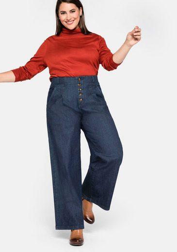 Sheego Stretch-Jeans mit High-Waist Bund