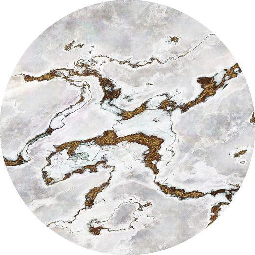 KOMAR Tapete »Marble Vibe«, Selbstklebende und runde ...