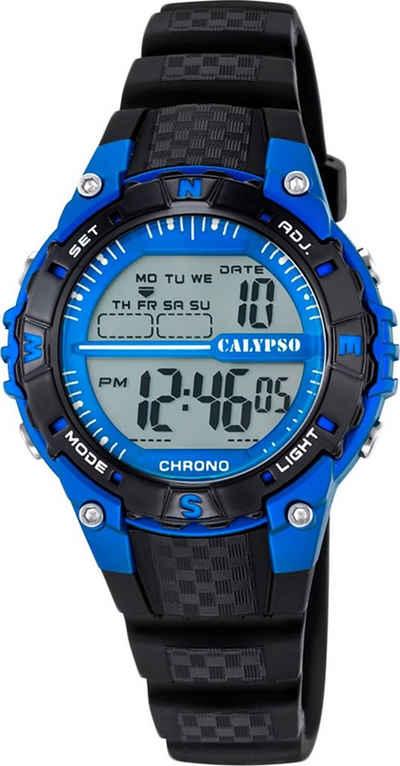 CALYPSO WATCHES Digitaluhr »UK5684/5 Calypso Unisex Uhr K5684/5 Kunststoffband«, (Digitaluhr), Damen, Herren Armbanduhr rund, PURarmband schwarz, Sport