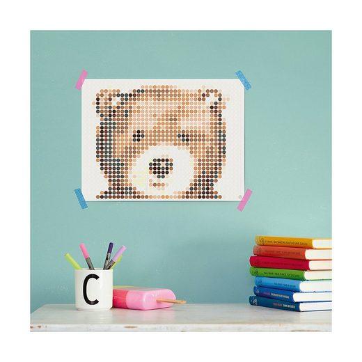 Dot On Malvorlage »dot on art - cuddle - teddy, 30 x 40 cm«