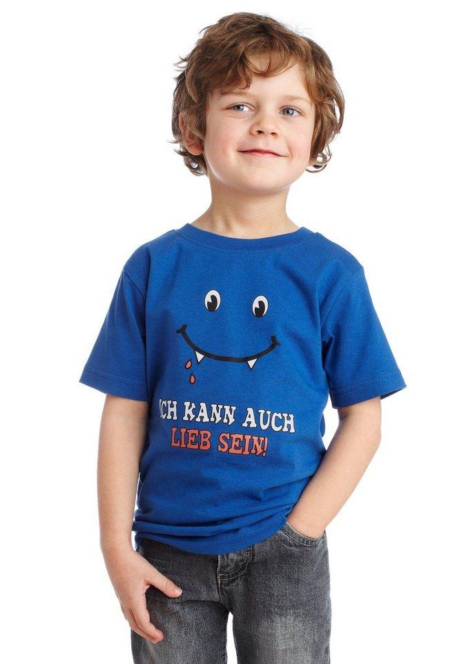 "CFL T-Shirt ""Ich kann auch lieb sein!"" in blau"