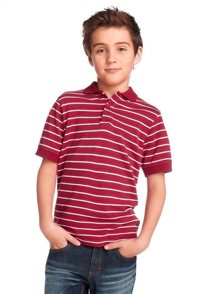 CFL Poloshirt, für Jungen in Rot-Weiß