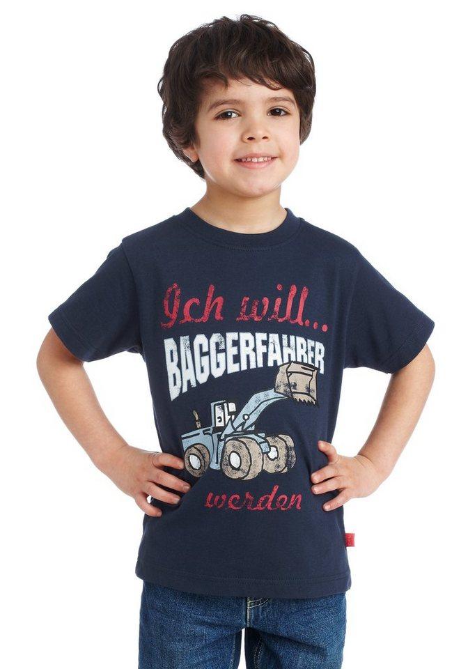 """CFL T-Shirt """"Ich will Baggerfahrer werden"""" in marine"""