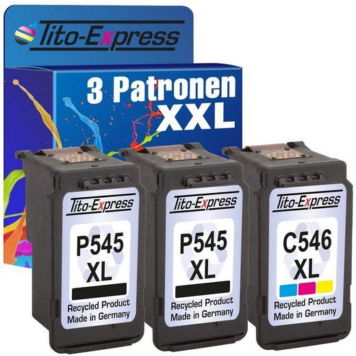Tito-Express PlatinumSerie »3er Set ersetzt Canon PG-545XL PG-545 XL & CL-546XL CL-546 XL Black & Color« Tintenpatrone