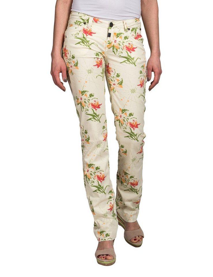 TIMEZONE Hosen lang »TahilaTZ 5-pocket pants« in beige flower print