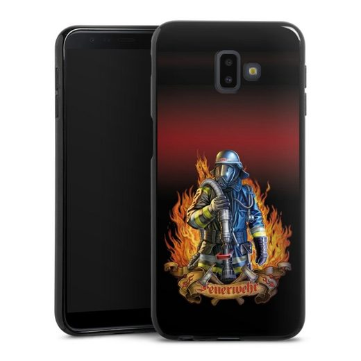 DeinDesign Handyhülle »Firefighter« Samsung Galaxy J6 Plus (2018), Hülle Feuerwehrmann Feuerwehr Beruf