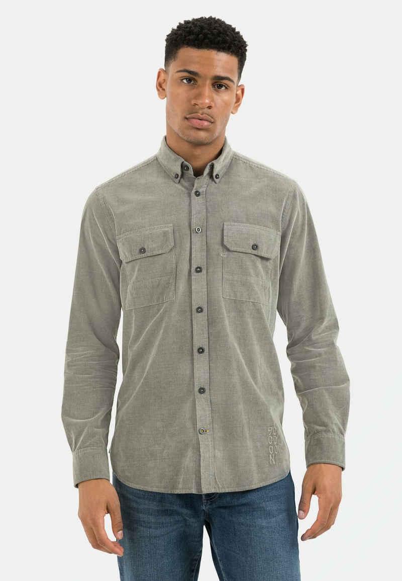 camel active Langarmhemd »Langarm Hemd in Cord Optik« Button-Down