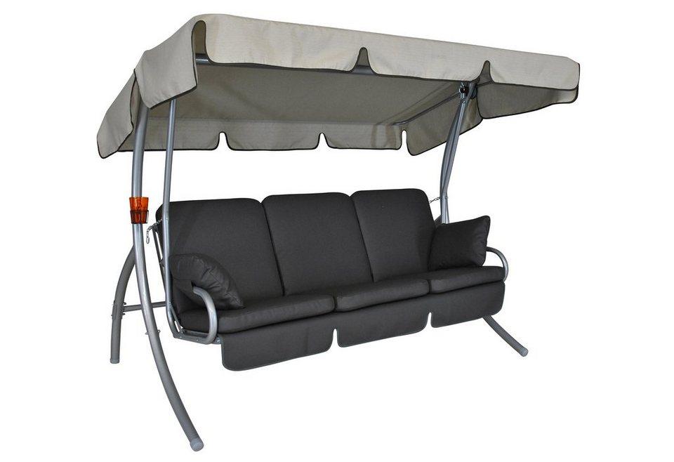angerer freizeitm bel hollywoodschaukel premium comfort 3 sitzer grau online kaufen otto. Black Bedroom Furniture Sets. Home Design Ideas