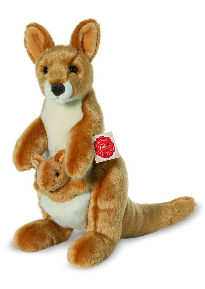 Teddy Hermann® COLLECTION Plüschtier, »Känguru mit Baby« in braun