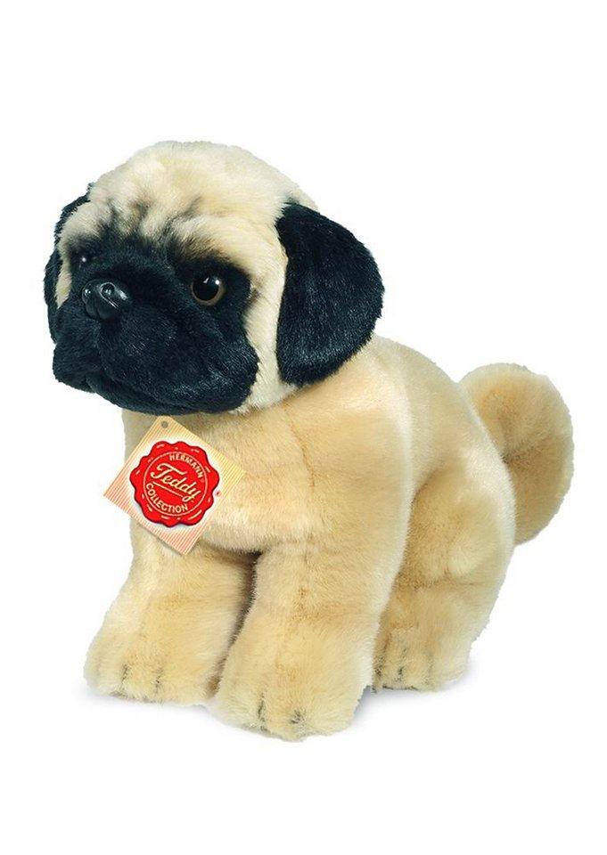 Teddy Hermann® COLLECTION Plüschtier Hund, »Mops sitzend« in beige