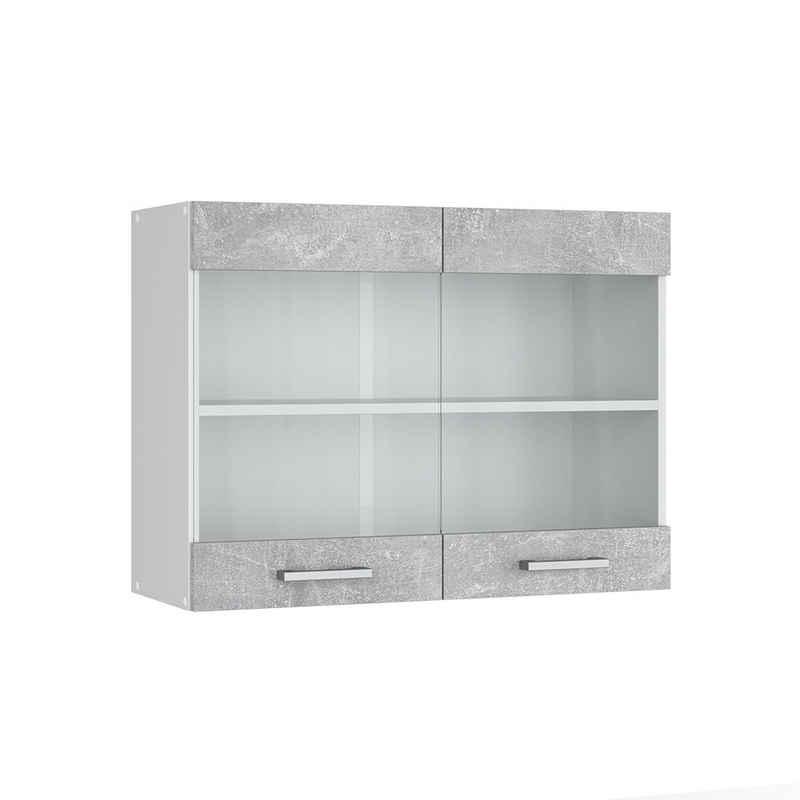 Vicco Hängeschrank »Hängeglasschrank 80 cm Küchenschrank Küchenzeile R-Line«