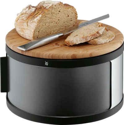 WMF Brotkasten, Cromargan® Edelstahl Rostfrei 18/10, Bambus, Kunststoff, (1-tlg), mit Holzschneidebrett