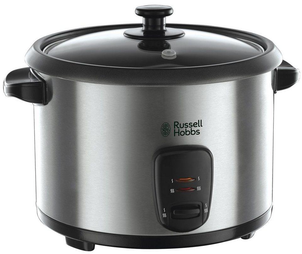 Russell Hobbs Reiskocher 19750-56 »Cook@Home», 1,8 Liter, mit zusätzlichem Dampfkorb in silberfarben