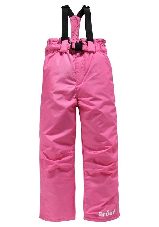 Scout Schneelatzhose mit abnehmbaren Gürtel und Hosenträgern in pink