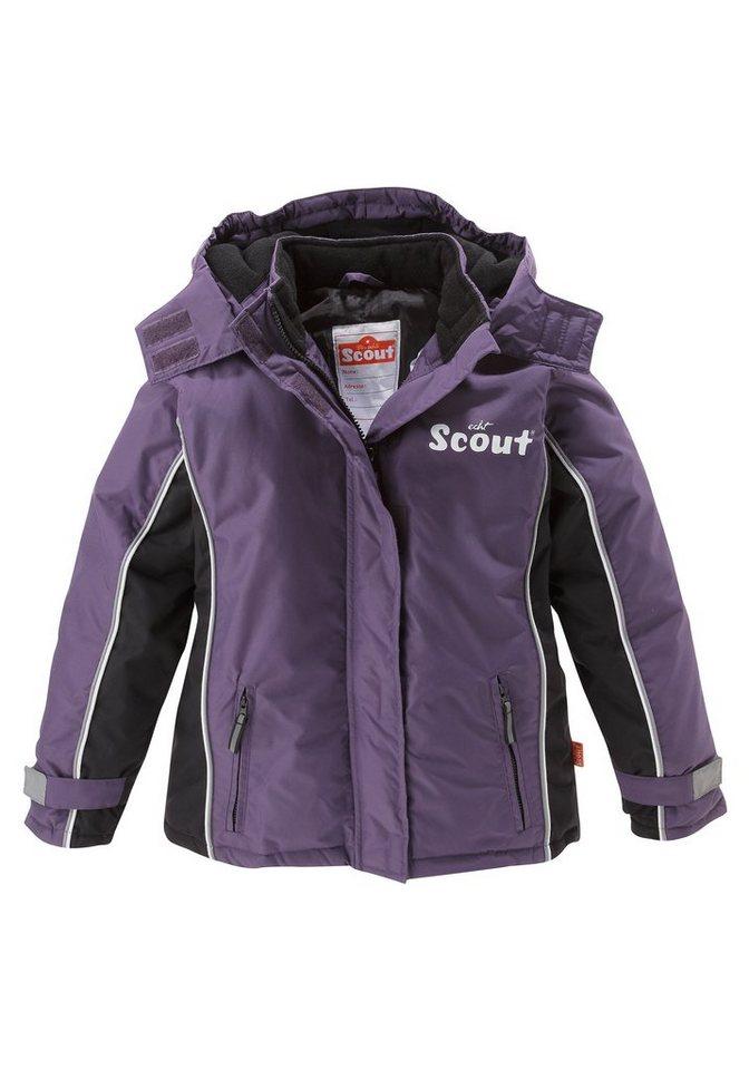 Scout Schneejacke mit reflektierenden Details in lila-schwarz