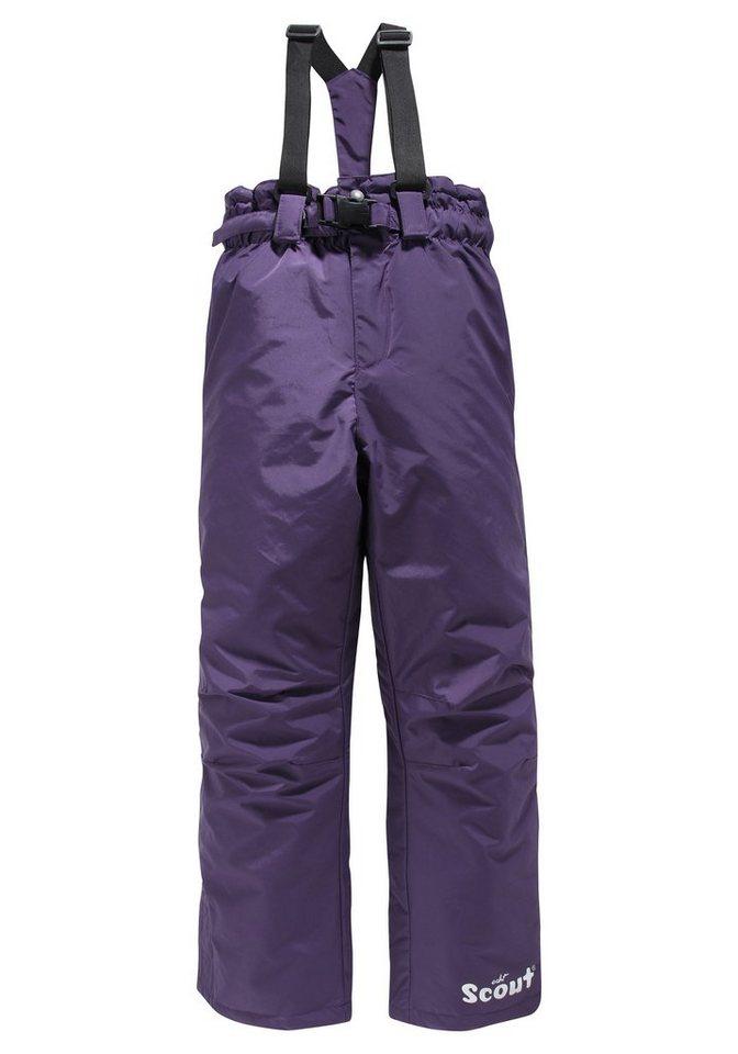 Scout Schneelatzhose mit abnehmbaren Gürtel und Hosenträgern in lila