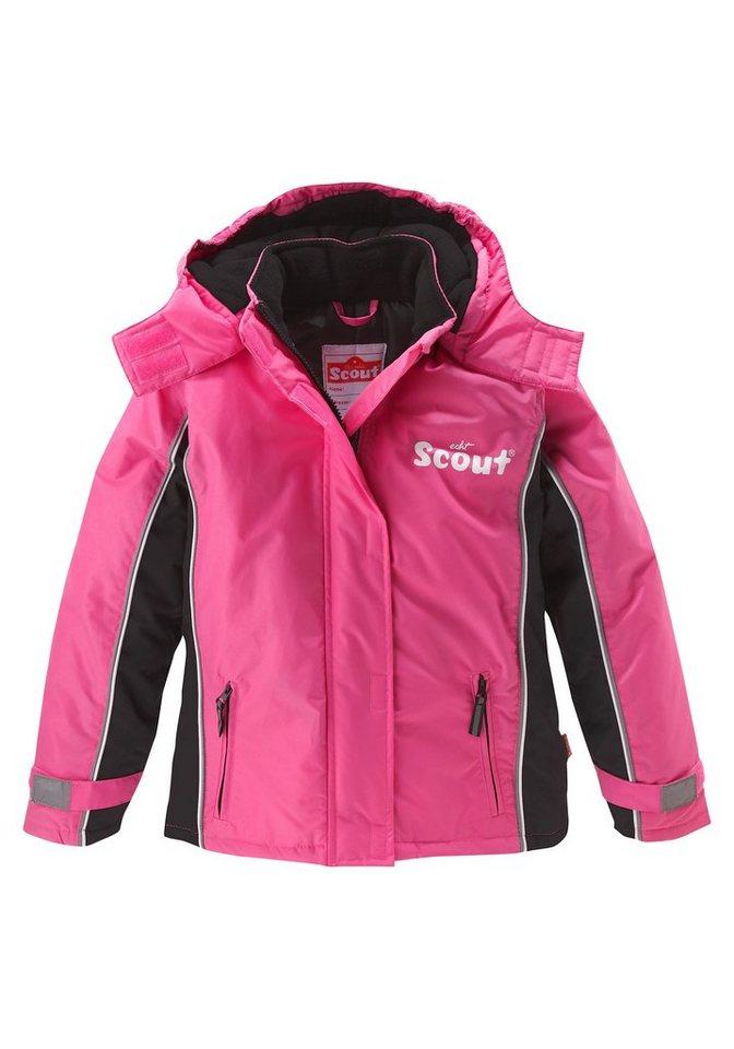Scout Schneejacke mit reflektierenden Details in pink-schwarz