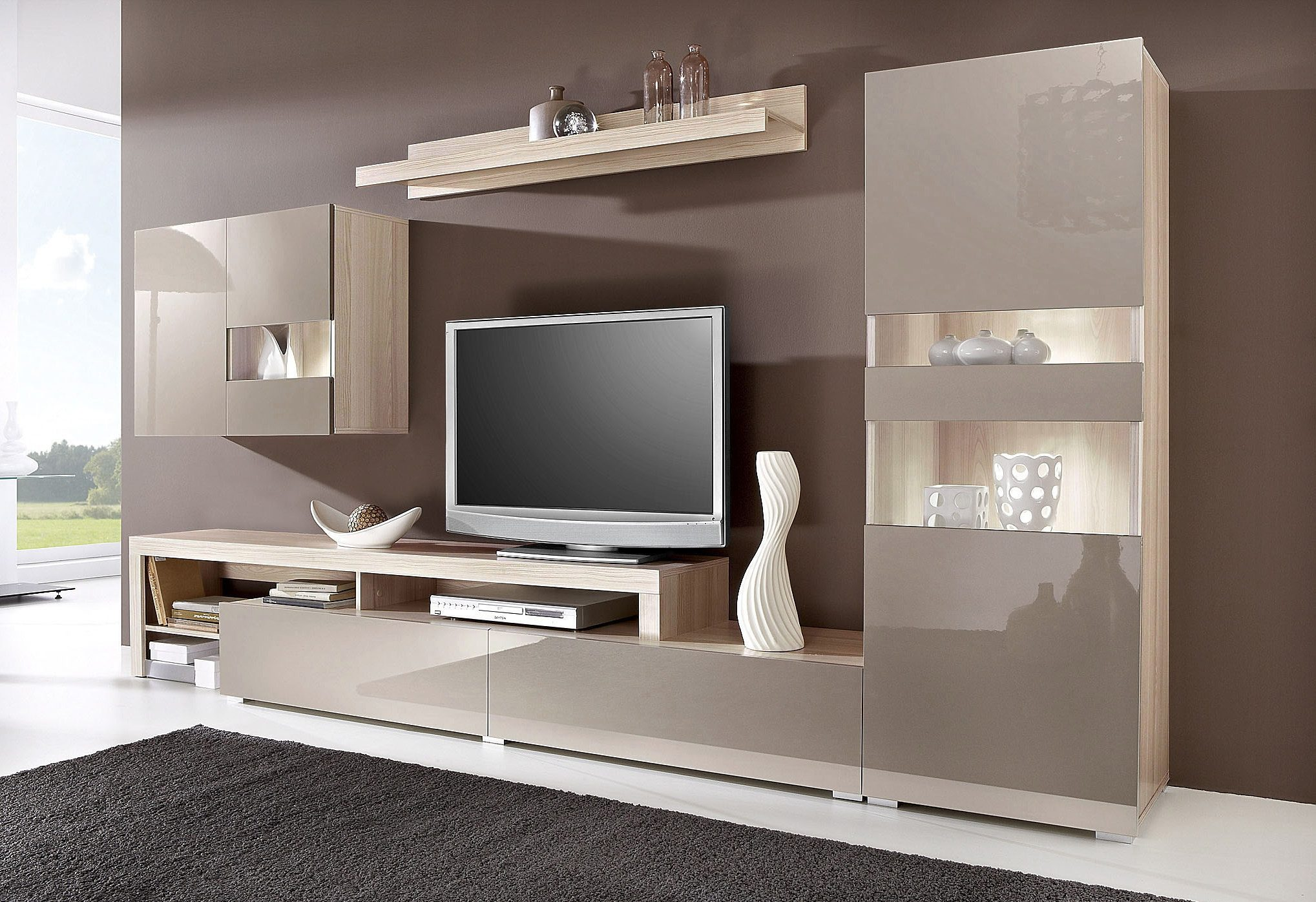 wohnwand viel stauraum just another wordpress. Black Bedroom Furniture Sets. Home Design Ideas
