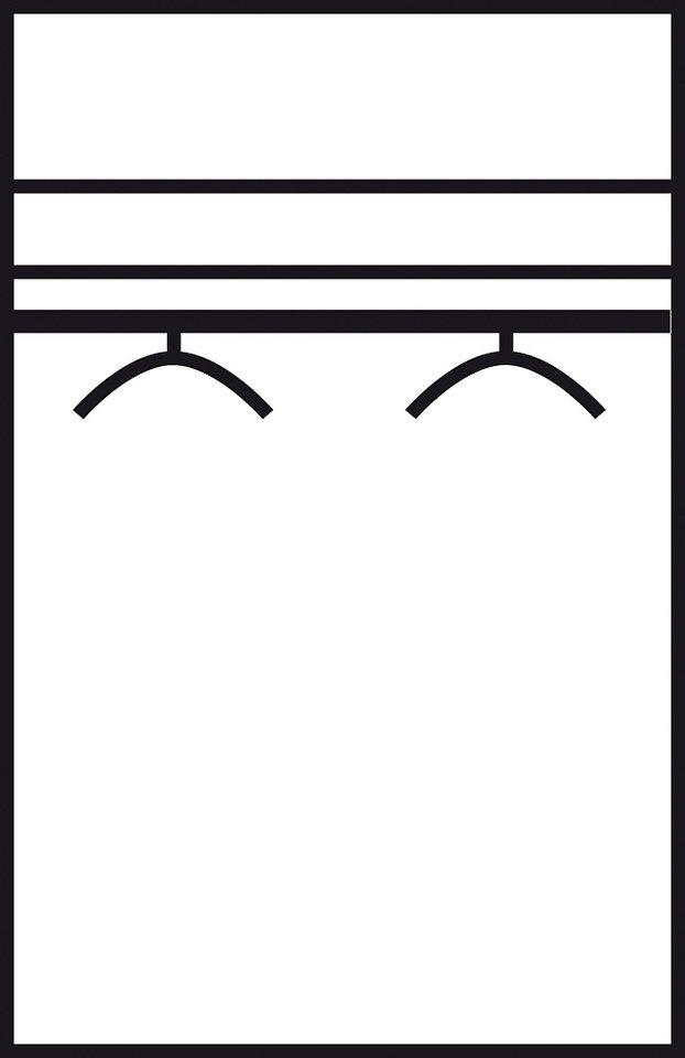 Kleiderschrank in nussbaumfarben/weiß