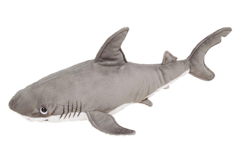 Plüschtier, Heinrich Bauer, »Hai aus der Serie Blickfänger« in grau