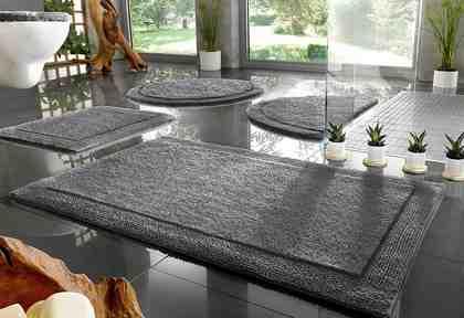 Badematte »Kapra« Home affaire, Höhe 20 mm, fußbodenheizungsgeeignet, strapazierfähig, beidseitig nutzbar, Bio Baumwolle