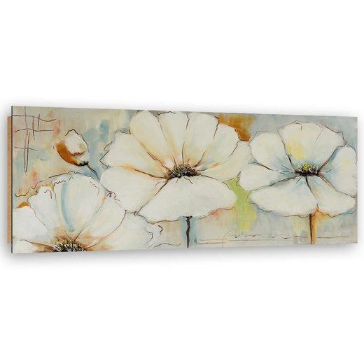 HomeLiving Deco-Panel »bemalte Blumen«, Motiv siehe Bild/Beschreibung