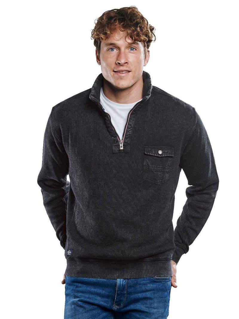 Engbers Sweatshirt »Sweatshirt mit Rippenstruktur«