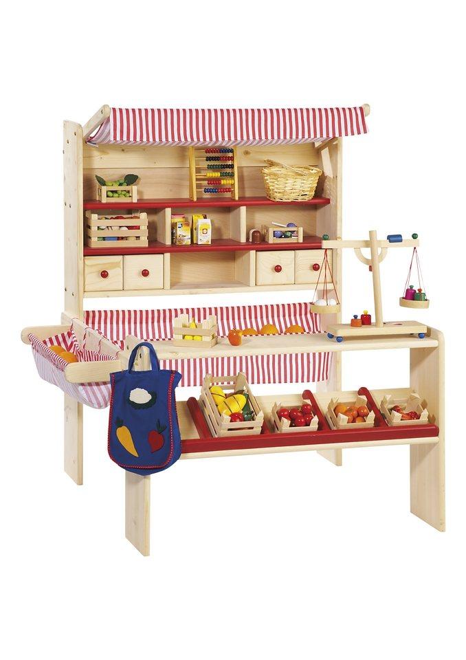 Pinolino Kaufladen aus Holz »Marktstand Lucy«