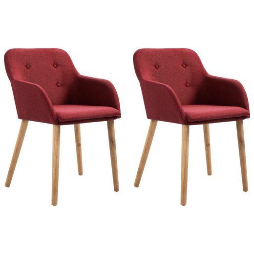 Forsman Shop Esszimmerstuhl »Esszimmerstühle « (Set, 2 Stück). Grün Stoff und Massivholz Eiche»,52 x 57 x 76,5 cm (B x T x H)«, Die Esszimmerstühle sind leicht zu montieren. Die Lieferung umfasst 2 Esszimmerstühle
