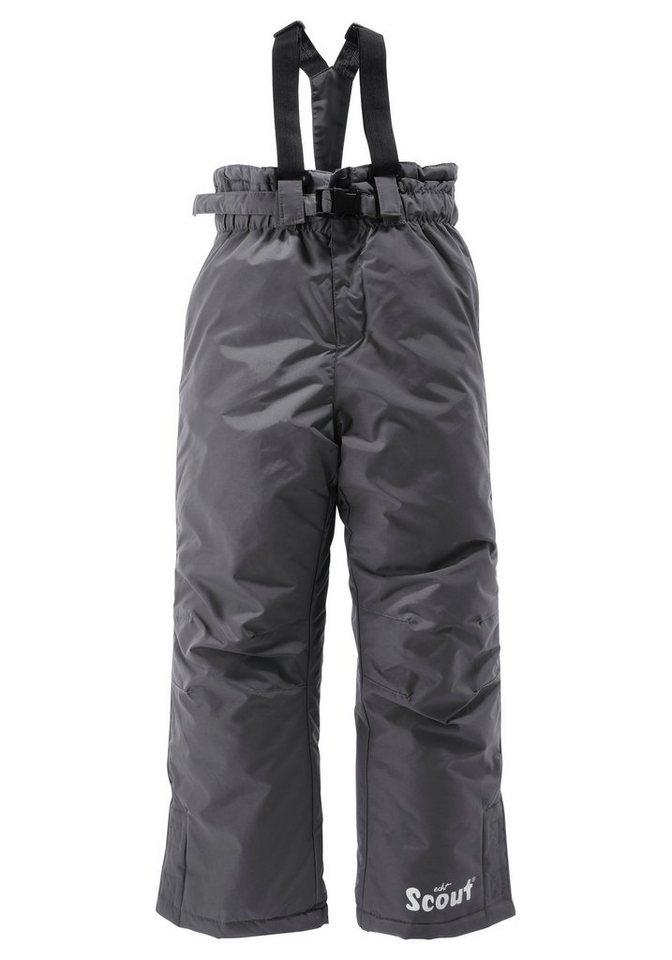 Scout Schneelatzhose mit abnehmbaren Gürtel und Hosenträgern in grau