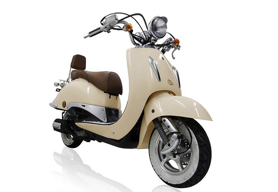 Motorroller, Motoworx, »Titano«, 125 ccm 85 km/h, 8,57 PS, cremeweiß, mit Rollergarage