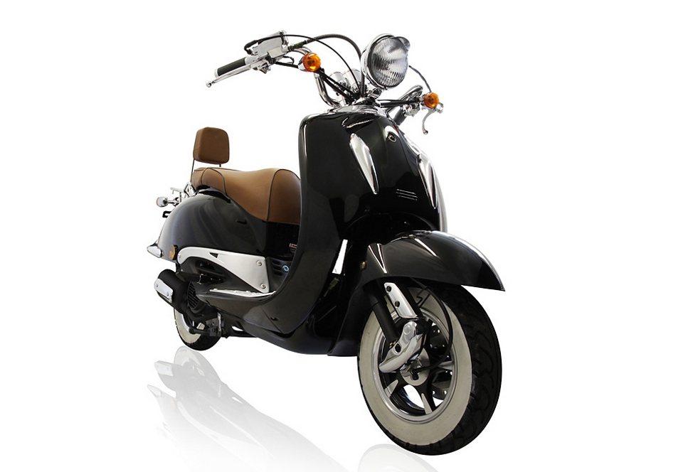Motorroller, Motoworx, »Titano«, 125 ccm 85 km/h, 8,57 PS, schwarz, mit Rollergarage in schwarz